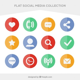Pack of colored circles social media plans