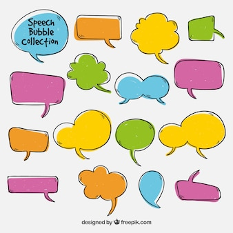 Pack of colored dialog balloons