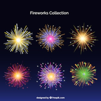Pack of colorful fireworks