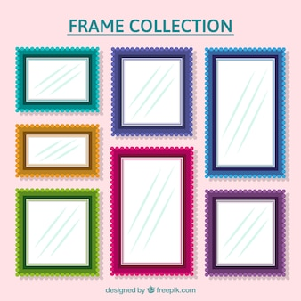 Pack of colorful frames with different sizes