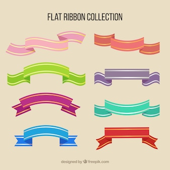 Pack of colorful ribbons