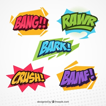 Pack of comic effects