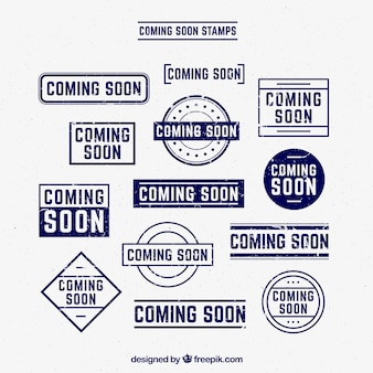 Pack of coming soon stamps