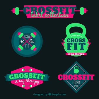 Pack of crossfit stickers