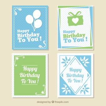 Pack of cute birthday cards