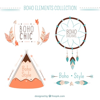 Pack of cute boho elements