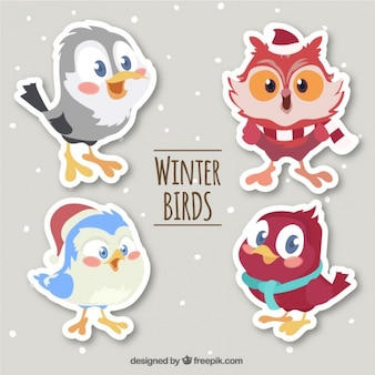 Pack of cute cartoon bird stickers