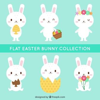 Pack of cute easter bunnies