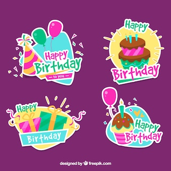 Pack of decorative birthday stickers