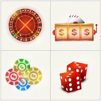 Pack of decorative casino objects