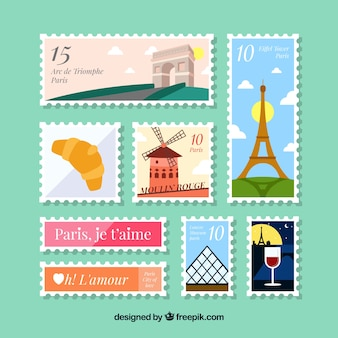 Pack of decorative post stamps