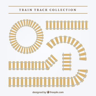 Pack of decorative train tracks