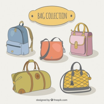 Pack of different types of bags