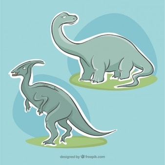 Pack of dinosaurs labels