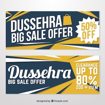 Pack of dussehra banners with special discounts
