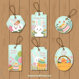 Pack of easter tags