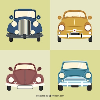 Pack of elegant antique cars