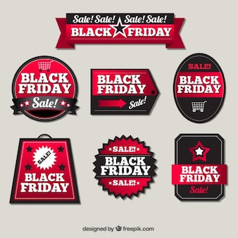 Pack of elegant sale stickers for black friday