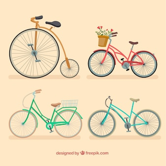 Pack of elegant vintage bikes