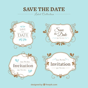 Pack of elegant wedding stickers