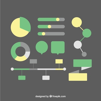 Pack of elements for computer graphics