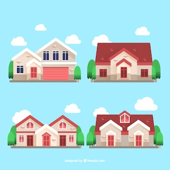 Pack of fantastic decorative houses