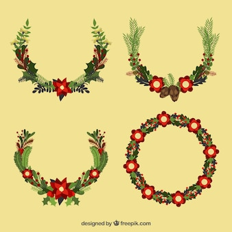 Pack of fantastic floral decoration for christmas