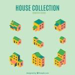 Pack of fantastic isometric houses