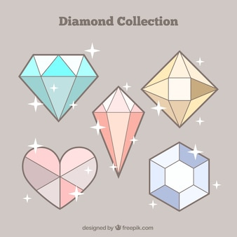 Pack of five diamonds