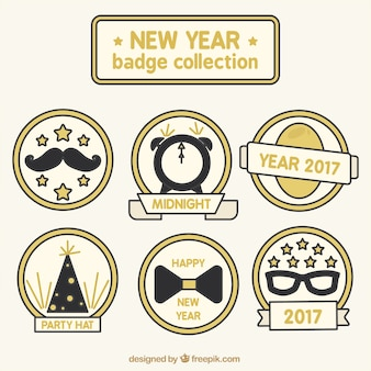 Pack of flat labels for new year