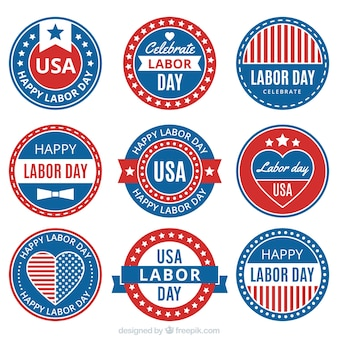 Pack of flat stickers labor day