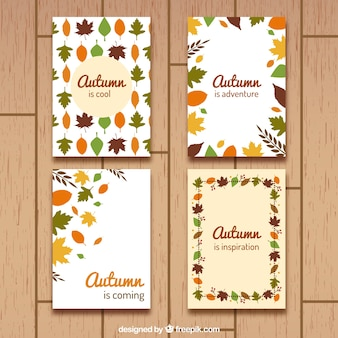 Pack of four autumnal cards