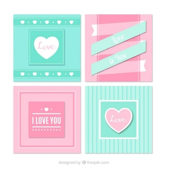 Pack of four beautiful love cards