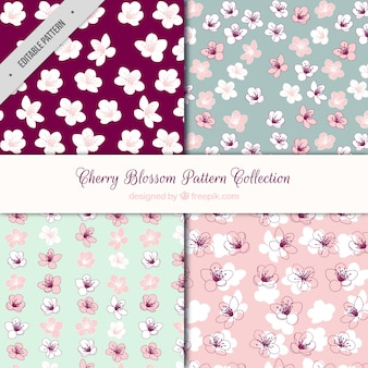 Pack of four cherry blossom patterns