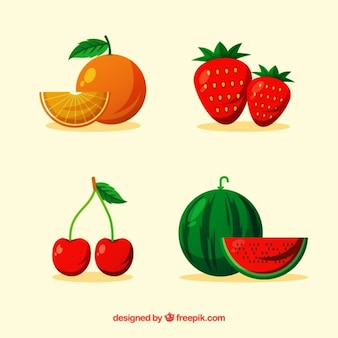 Pack of four delicious fruits