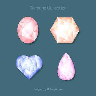Pack of four diamonds