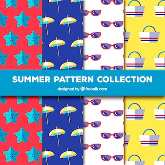 Pack of four flat summer patterns