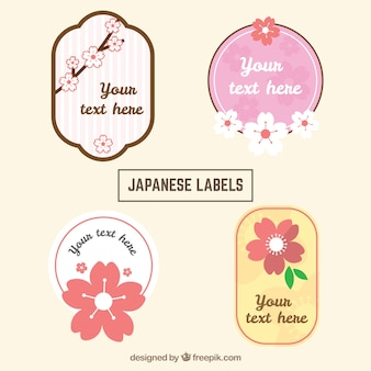 Pack of four japanese labels