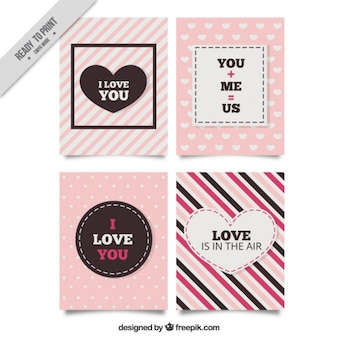 Pack of four love cards