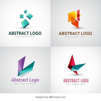 Pack of four modern abstract logotypes
