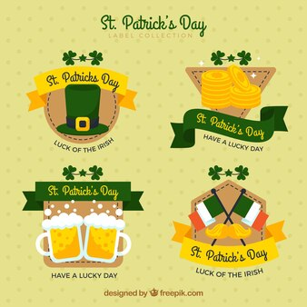 Pack of four st. patrick's day stickers