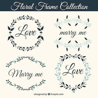 Pack of four vintage wedding frames