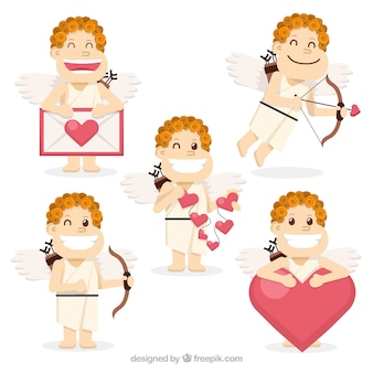 Pack of funny cupid characters