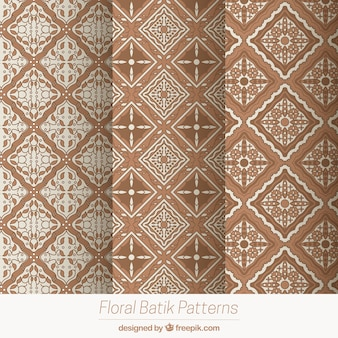 Pack of geometric patterns in batik style