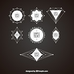 Pack of geometrical shapes badges