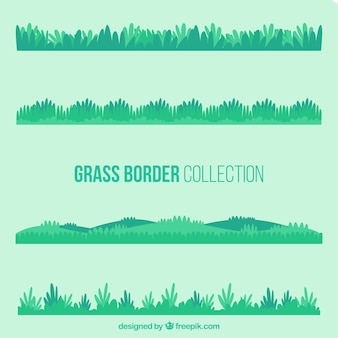 Pack of grass borders with different designs