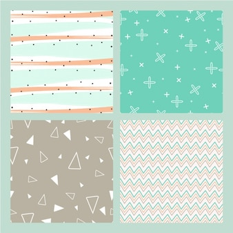 Pack of great backgrounds with lines and geometric shapes