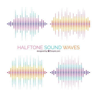 Pack of halftone sound waves