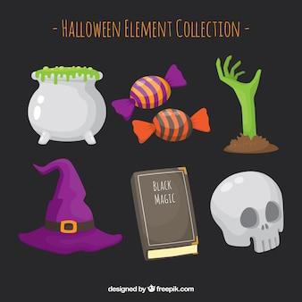 ハロウィンの要素のパック
