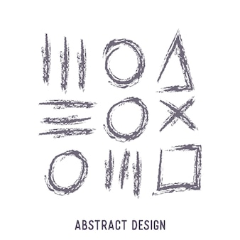 Pack of hand drawn abstract shapes